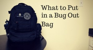 what to put in a bug out bag