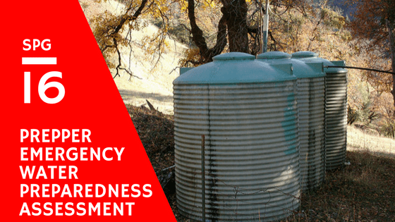 When it comes to preparedness having emergency water storage and supply is essential. In this episode we are going to begin a series of episodes where we ... & SPG 016: Prepper Emergency Water Preparedness Assessment - Smart ...