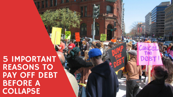 pay off debt before a collapse
