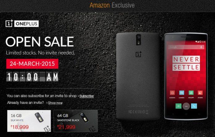 Oneplus one open sale