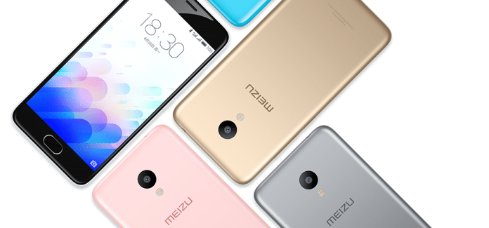 Meizu m3 in various colors options