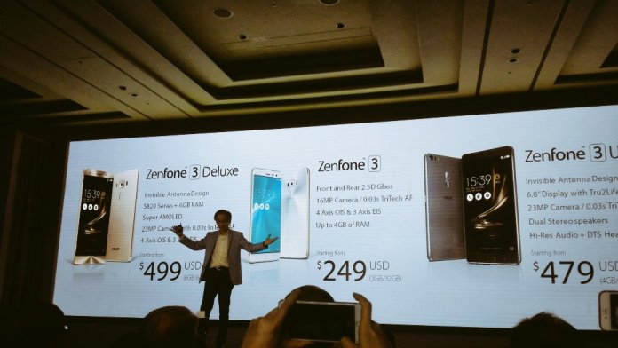 Asus Zenfone 3 Deluxe specification and features
