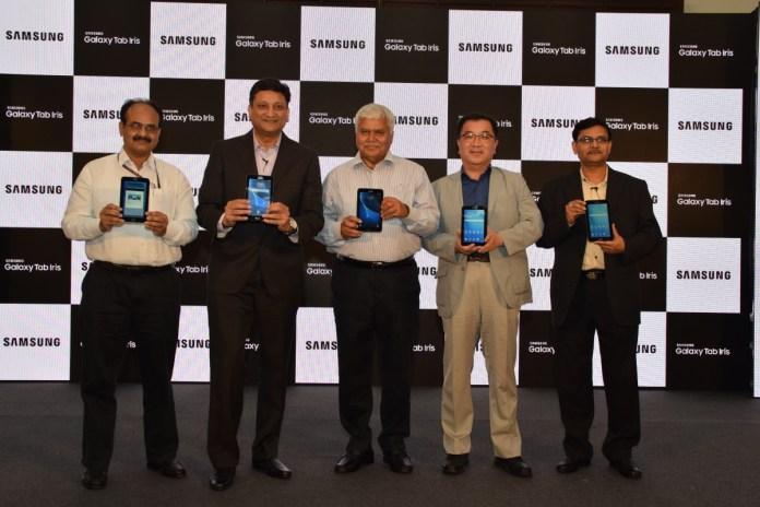 Samsung Galaxy tab Iris with biometric authentication
