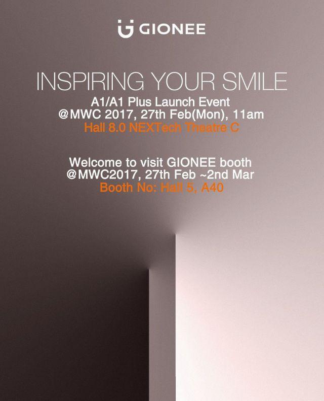 gionee invite MWC'17