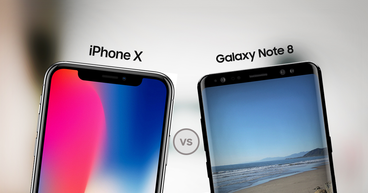 iphone x vs samsung galaxy note 8 specs comparison true 2017 flagships smartprix bytes