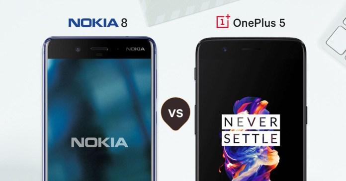 nokia 8vs OnePlus 5
