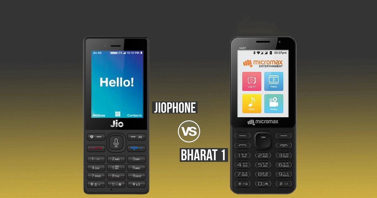the best attitude b0b59 02b08 Reliance JioPhone vs Micromax Bharat 1: Which feature phone hybrid ...
