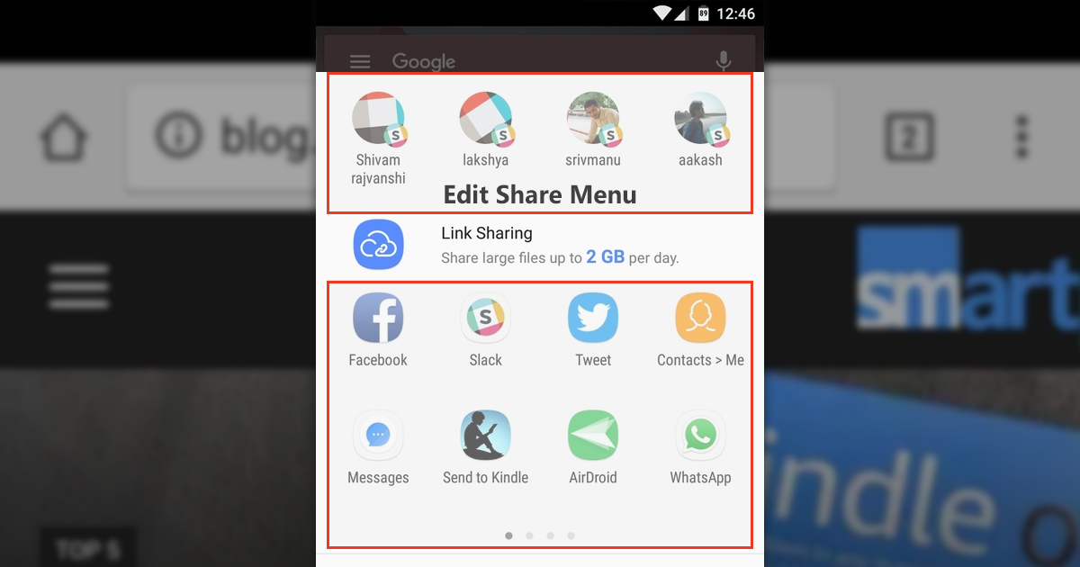 How to edit and organize Android Share Menu to prioritize particular