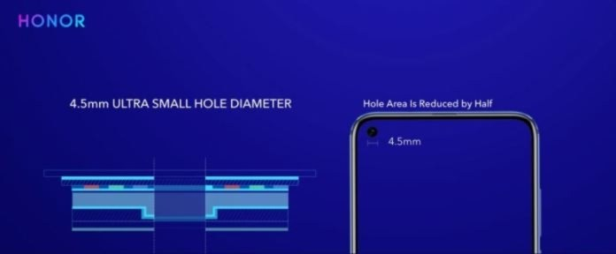 In-display Hole for Front Camera in Honor V20