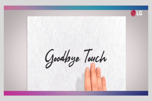 """LG Teases """"Goodbye Touch"""" at MWC 2019 (Source: LG Youtube)"""
