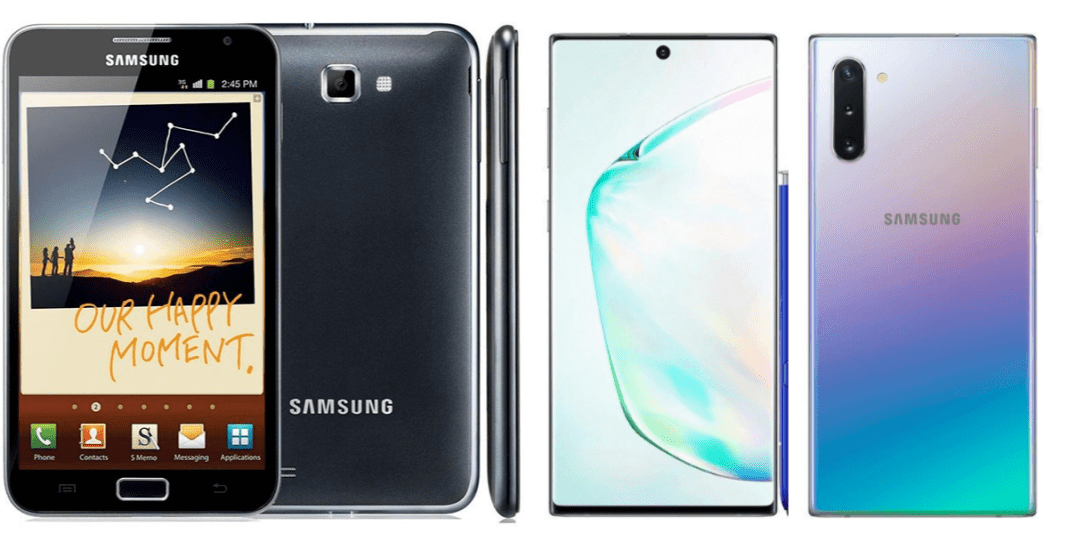 Samsung Galaxy Note 10 vs Note 1