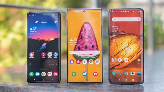 Galaxy S10 vs Galaxy Note 10+ vs OnePlus 7 Pro