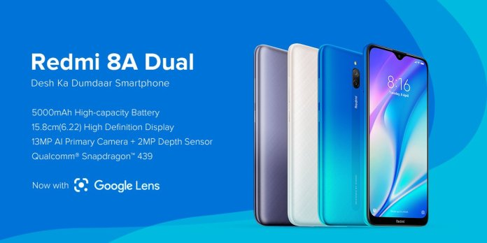 Redmi 8A Dual launched in India