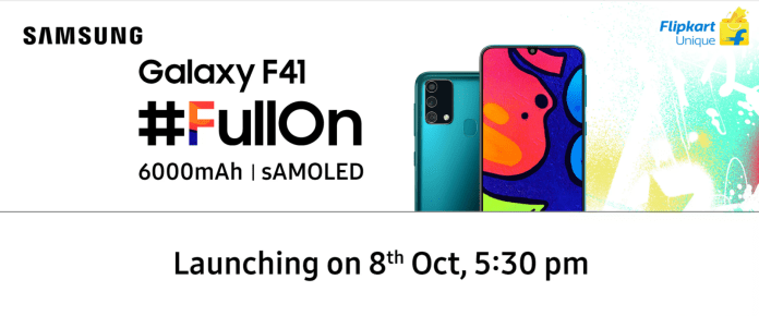 Galaxy F41 to launch in India on Oct 8