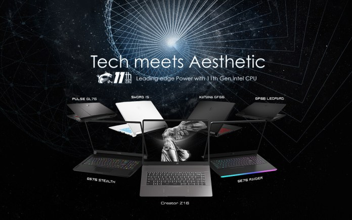 MSI Tiger Lake-H laptops Gaming Creator
