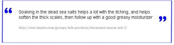 Dead sea salt natural psoriasis treatment