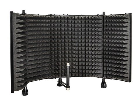 acoustic shield for recording rap vocals