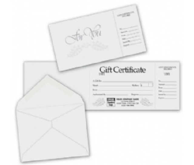 Product  Custom Gift Certificates Gray Silver