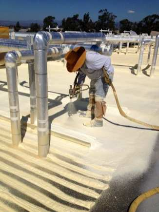 spraying SPF