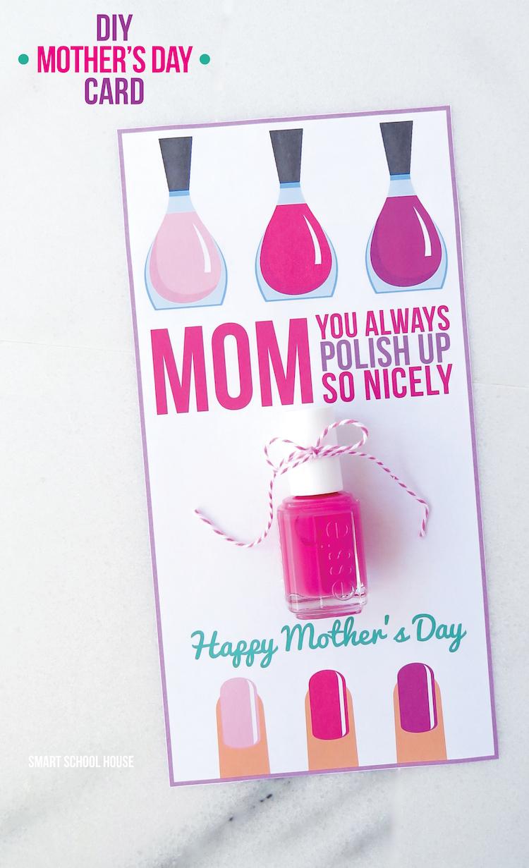 Nail Polish Mothers Day Card