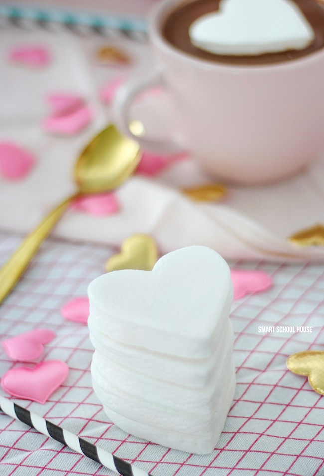 Heart Marshmallow In Hot Chocolate For Valentines Day