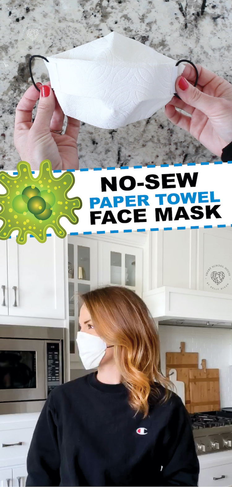 no sew structured paper towel face mask
