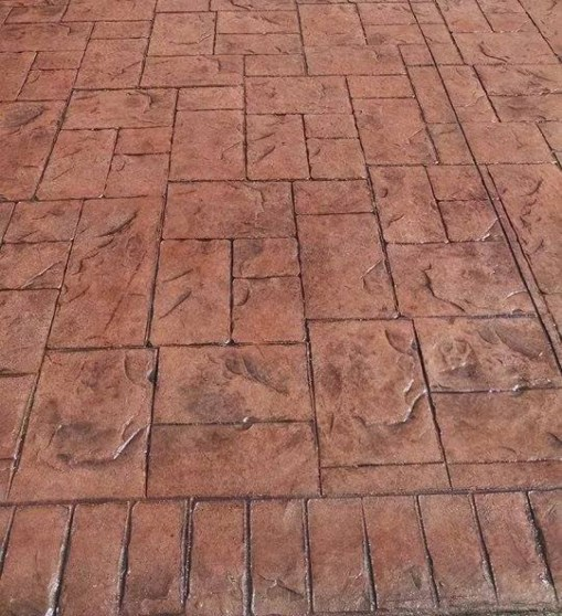 Imprinted Concrete Driveway after SEALING AND REFURBISHMENT.