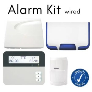 Teletek Wired Intrusion Alarm Kit-  Loud Siren with landline Dialler- for home and business