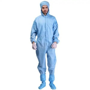 Washable Coverall Anti-Static with Hood-Blue