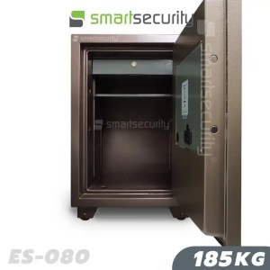 This is a picture of the Eagle safe ES 080 185KG Fireproof Home and Business Safe Box open