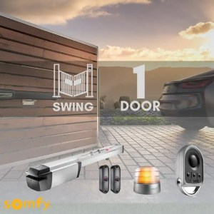 1 Swinging Gate Motorization Kit with Remote For Parking and Garage Door Kit-Swing-1-Door