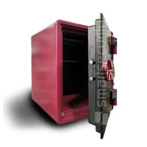 This is a picture of the Eagle safe YES 031 57KG Fireproof Home and Business Safe open