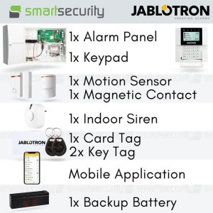 Jablotron Wireless Intrusion Alarm Kit-  Loud Siren with Mobile App - for home and business