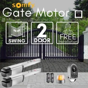 2 Swinging Gate Motorization Kit with Remote For Parking and Garage Door