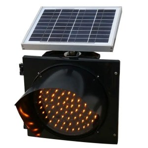 This is a picture of the Solar Flashing Beacon provided by Smart Security in Lebanon