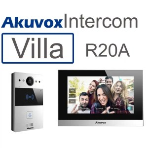 This is a picture of the Akuvox 1 apartment or villa Video intercom SIP with mobile App offer provided by Smart Security in Lebanon _1