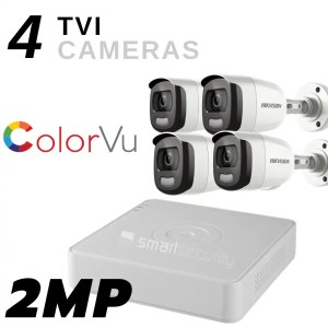 ColorVu 4 Full HD camera TVI 2MP Security System Outdoor and Indoor