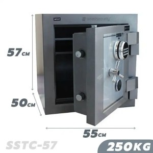 This is a picture of the SALVADO Safe COBRA SSTC 57 250KG FIRE AND BURGLARY SAFE provided by Smart Security in Lebanon