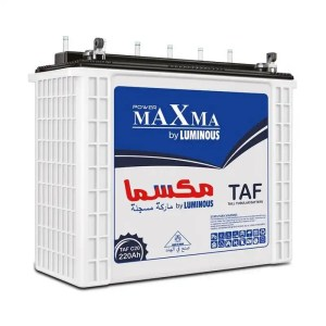 This is a picture of the Maxma Tubular Battery 12V-220AH Deep Cycle provided by Smart Security in Lebanon
