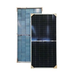 This is a picture of the Solar Panel 520W Jinko BIFACIAL provided by Smart Security in Lebanon