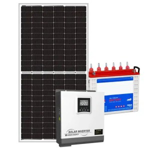This is a picture of the Solar Energy System Kit 2 AMPS sold in Lebanon by Smart Security