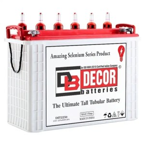 This is a picture of the Decor Brand Tubular Battery 12V-250AH Deep Cycle sold by Smart Security in Lebanon