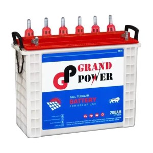 This is a picture of the Grand Power Tubular Battery 12V-250AH Deep Cycle sold in Lebanon by Smart Security