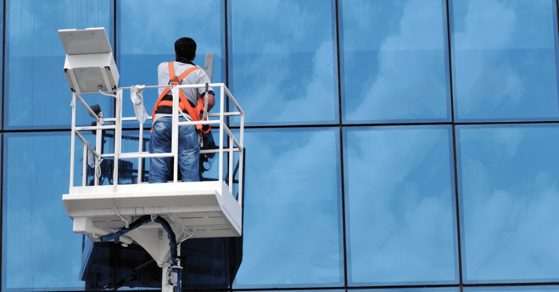 What's the annual salary for a high rise window cleaning job?