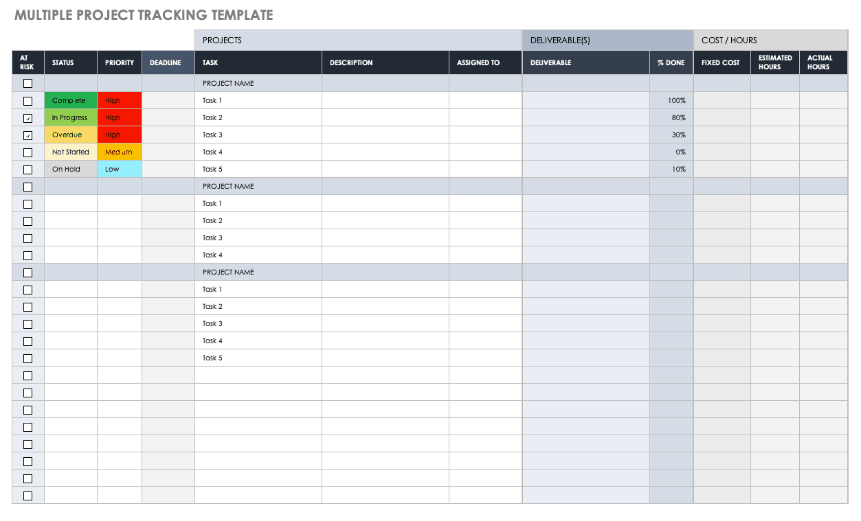 One of the most important considerations for the design of the logo is the color palette, use strong, geometric typeface to reinforce your message & when you are designing a logo, consider whether or not a generic or unique design. Free Project Tracking Templates Smartsheet