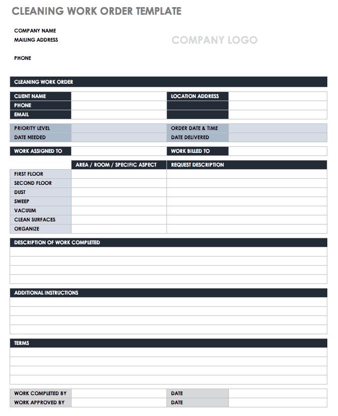 Easily edit online, download, print or share via email. 15 Free Work Order Templates Smartsheet