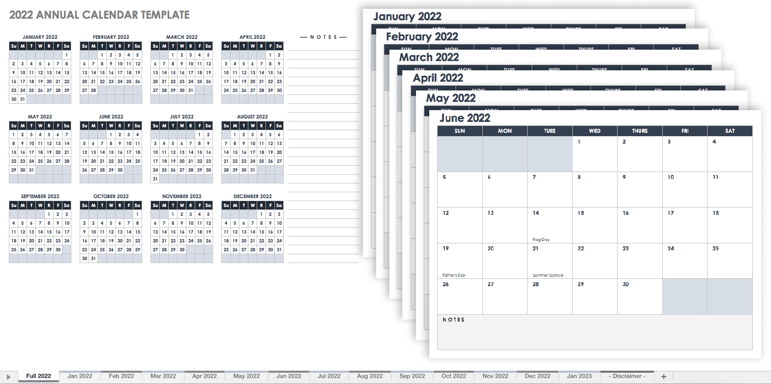 The australia 2022 calendar is printable customizable and free to download. 15 Free Monthly Calendar Templates   Smartsheet