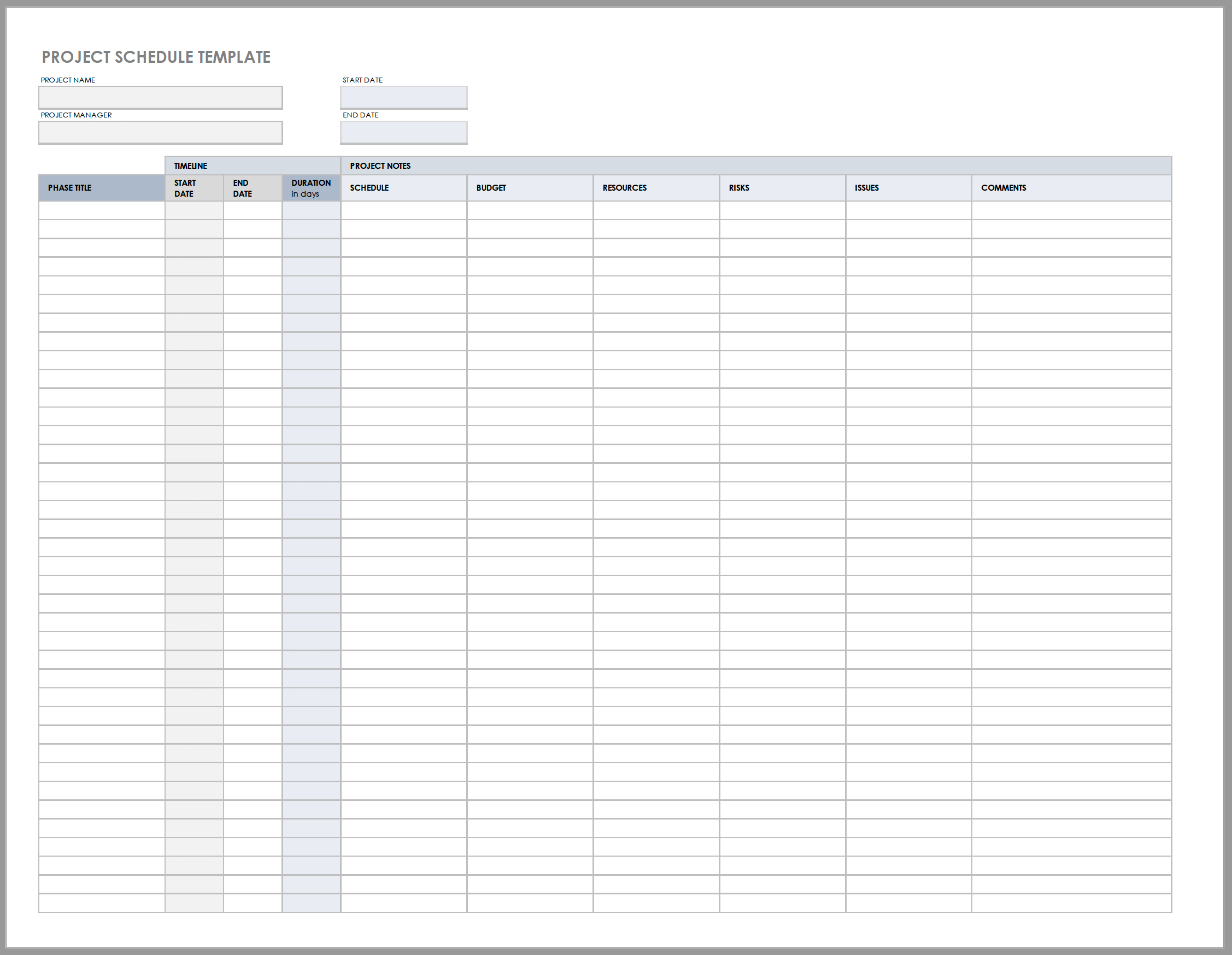 Free Daily Work Schedule Templates
