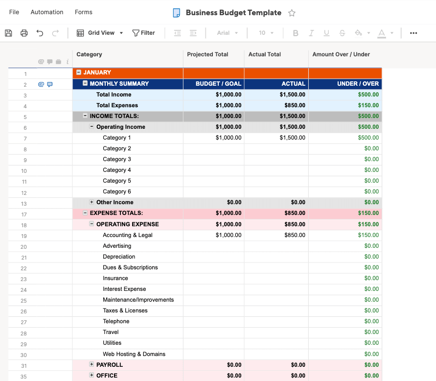 Creating a travel budget isn't all about spreadsheets. Free Budget Templates In Excel Smartsheet