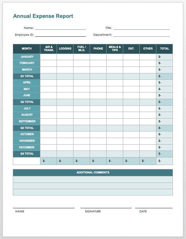 Download expense report template for free formtemplate offers you hundreds of resume templates that you can choose the one that suits your work experience and sense of design. Free Expense Report Templates Smartsheet